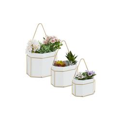 relaxdays Blumentopf Wandampeln 3er Set (3er Set), zum Aufhängen