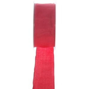 Taftband mit Drahtkante - Rot - breit - Geschenkband - Dekoband - Schleifenband - ca. 40 mm Breite - 25 m Länge - 3330-40-25-7
