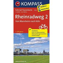 Rheinradweg 2, Von Mannheim nach Köln 1 : 50 000 - Fahrradkarten