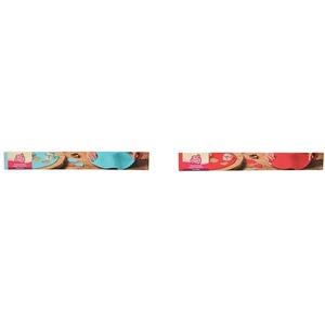 FunCakes Ausgerollte Rollfondant Disc Baby Blue: Köstliches Vanille-Aroma, 430 g & Ausgerollte Rollfondant Disc Feuerrot: Köstliches Vanille-Aroma, bereits gerollt, einfach zu verwenden, 430 g
