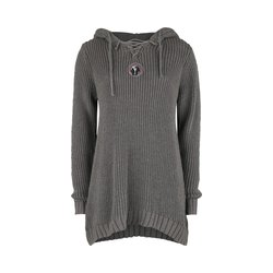Black Premium by EMP Knitted Pullover with Hood and Lacing Hooded sweater beige
