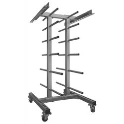 Ständer für Aerobic Langhantel Sets - rollbar
