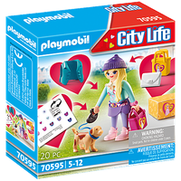 Playmobil City Life Fashion Girl mit Hund 70595
