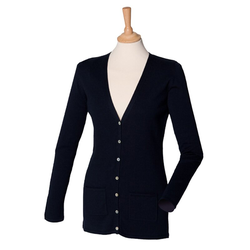 Damen V-Neck Cardigan | Henbury navy XS