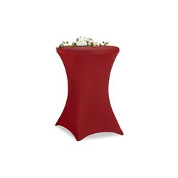 Stehtischhusse Stehtischhusse 60 cm, relaxdays rot