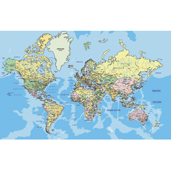 Fototapete World Map, glatt 5 m x 2,80 m
