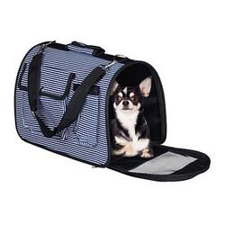 relaxdays Hundetasche   blau 43,0 x 21,0 x 26,0 cm
