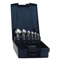 Exact 50739 Kegelsenker-Set 6teilig 8.3 mm, 10.4 mm, 12.4 mm, 16.5 mm, 20.5mm Pulvermetallurgisches