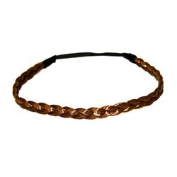 MyBeautyworld24 Haarband Haarband geflochten Zopf elastisches Haarband Haaraccessoire Haarteil Stirnband Extensions Kunsthaar braun