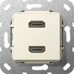 Gira 567201, HDMI™ 2f K-Peitsche Einsatz Cremeweiß