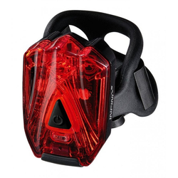 Infini Fahrradbeleuchtung Saftey light Infini I-260 Lava rote LEDs, schwarz,
