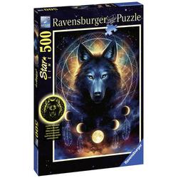 Ravensburger Leuchtender Wolf Puzzleteile= 500