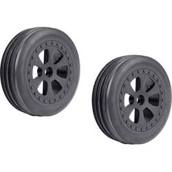 Reely 1:10 Buggy Kompletträder Rillen Reifen 6-Speichen Schwarz 1 Paar