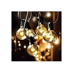 Elegear LED-Lichterkette, 12,2M 30 Birnen mit 3 Ersatzbirnen, Innen Außen 2.8 m