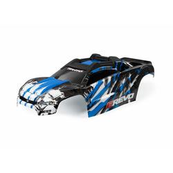 Traxxas TRX8611X Karosserie E-Revo blau + Aufkleber