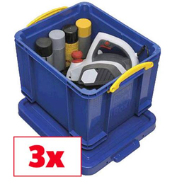 Really Useful Box Aufbewahrungsbox 35B Blau 35l (B x H x T) 480 x 310 x 390mm 3St.