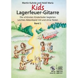 Kids Lagerfeuer-Gitarre m. Audio-CD. Bd.1