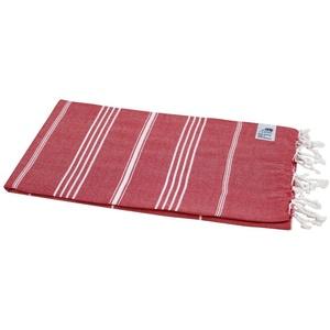 my Hamam Hamamtuch Hamamtuch Sultan rot mit weißen Streifen (1-St), saugfähig und schnell trocknend