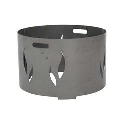 Feuerschalenaufsatz, Stahl silber/anthrazit, passend zu der Feuerschale XXL Ø85cm, mit eingraviertem Muster