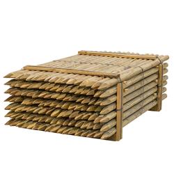 119x VOSS.farming Holzpfähle rund, Zaunpfahl Holz, Kesseldruckimprägniert Klasse 4, 200cm x 60mm