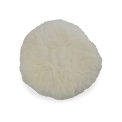 Sitzkissen LAMMFELL weiß (D 34 cm)