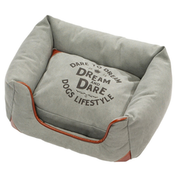 D&D Hundebett Lifestyle Sofabed Dream blau, Maße: 55 x 55 x 23 cm