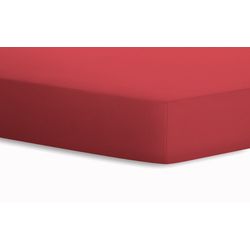 Schlafgut Spannbetttuch Jersey in rot, 100 x 200 cm