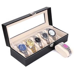 PRECORN Uhrenbox Uhrenkasten Uhrenbox Uhrenkoffer Aufbewahrung für Uhren Uhrenschatulle Speicher für Uhren Uhrbox (6-tlg)