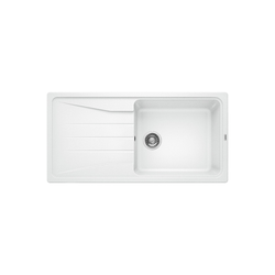 Blanco Sona Xl 6 S Silgranit Puradur Ii Single Bowl Reversible Drainer White Kitchen Sink
