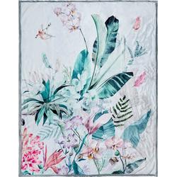 Plaid Verdi, Descanso, mit Blüten