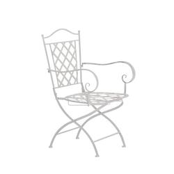 CLP Gartenstuhl Adara, handgefertigter Gartenstuhl aus Eisen weiß
