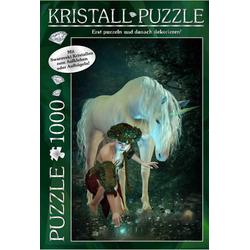 M.I.C. Swarovski Kristall Puzzle Motiv: My Unicorn. 1000 Teile Puzzle