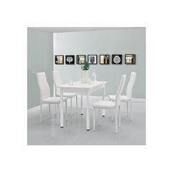 en.casa Esstisch, Moderner Küchentisch Den Haag 120x60cm in weiß weiß