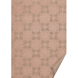 VBS Motivpapier Naturkarton Ornamente, 70 cm x 50 cm braun