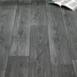 PVC Vinyl Bodenbelag Holz Maxiplanken Schwarz Grau Muster DIN A4