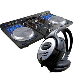 HERCULES Mischpult Hercules Universal DJ Controller + Kopfhörer