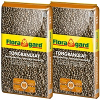 Floragard Tongranulat Blähton Drainagematerial, (2-St), je 25 l