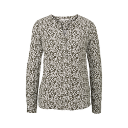 TOM TAILOR Damen Bluse mit Blumenmuster, grün, gemustert, Gr.42
