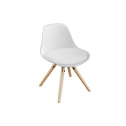 SoBuy Stuhl FST46 Kinderstuhl Sitzhocker weiß Sitzhöhe 35cm weiß