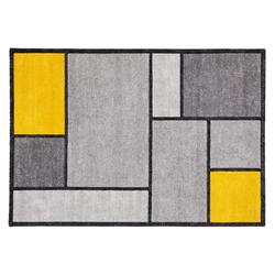 Designer-Teppich gelb und grau 160 x 230 cm - CUBIK