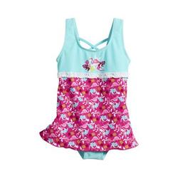Playshoes UV-Schutz Badeanzug mit Schwimmrock Flamingo