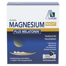 MAGNESIUM NIGHT plus 1 mg Melatonin Pulver 60 St