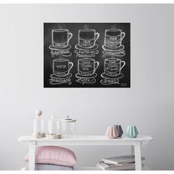 Posterlounge Wandbild, Kaffee-Rezepte (Englisch) 80 cm x 60 cm