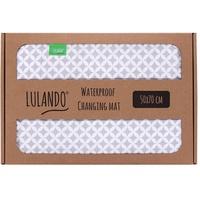 LULANDO BF00000138 Wickelmatte Baumwolle, PVC, Polyester Grau, Weiß Flach