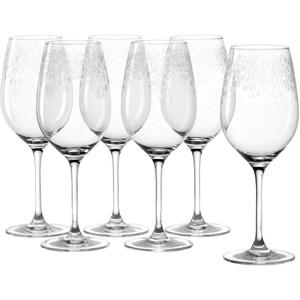 Leonardo Chateau Bordeaux-Gläser 6er Set, spülmaschinenfeste Rotwein-Gläser, Rotwein-Kelch mit gezogenem Stiel, Weinglas mit Gravur, 600 ml, 017453