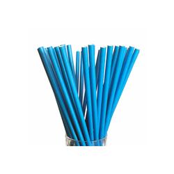 LUXENTU Trinkhalme Papier Trinkhalm Jumbo 100 Stück blau, (100-tlg) blau