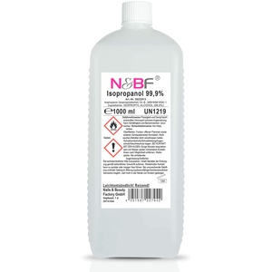 N&BF Nagel Cleaner 1000ml – Cleaner für Gelnägel – Nagelreiniger – Nail Cleaner 1 Liter – 99% Isopropanol Isopropylalkohol kosmetisch rein in Studioqualität