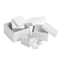 VBS Aufbewahrungsbox Würfel, 12er-Set