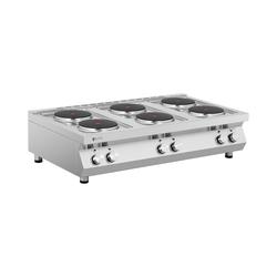 Elektroherd Gastro - 15.600 W - 6 Platten