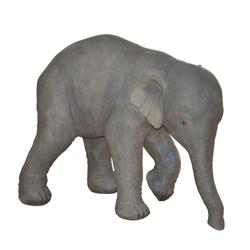 Elefant Figur aus Kunststein Grau
